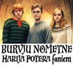 BURVJU nometne Harija Potera faniem RUDENS brīvlaikā